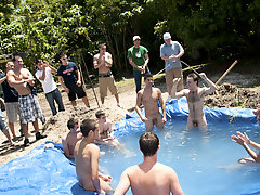 There is nothing  a nice summer anon a punctually splash, unusually when the pool is man made and ghetto rigged as fuck teen guys group