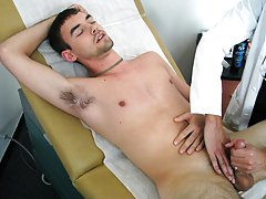 As I had my finger in his anus and massage and pressing his prostrate, I gently stroked his cock gay action twinks