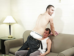 His face contorted in pain, every muscle tightened, Taig wasn't sure if he could handle his first gay sex, but as he felt his ass end get pounded