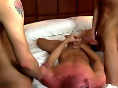 This instantly escalates to some cock sucking, and before long there are dicks flying roughly and landing in some tight twink asses red gay twinks
