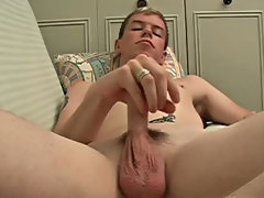 He didn't move a whole lot to give me a good shot, he just put his rib over the back of he couch uncut men masturbating