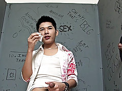 So he showed up horny and ready gay   asian   white at boy glory hole!