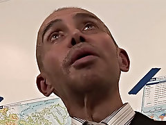The older bald teacher pulls the twink's big dick from its nylon prison and eats it  cuckoo demanding to have the throbbing ornament in his intru