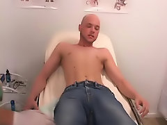 Dr Swallow cock had me remove my pants ands then he began to carry out my testicles boy sex first time