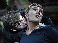 Jayden Ellis plays Egan, a vampire that's not as blood thirsty as he is eager for cock twin gay twinks - Gay Twinks Vampires Saga!