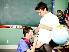 When they compare sizes Levon is so turned on he can't help but give his prof some flavourful deepthroat ways gay boys teens first at Teach Twink