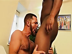 Hellish man Sean is taken authority over over before hairy hunk Marcus, getting his solid cock sucked on and body licked away his colleague gay hunk c