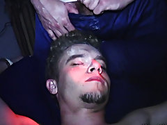 These dudes were fucking with one of their buddies who had passed out with his shoes on, putting shaving cream all over him, tea bagging him and slapp