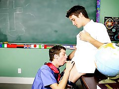 The naughty prof is convinced and bends Levon over to satisfy himself into his schoolgirl's young, tight ass gay twink amateur first at Teach Twi