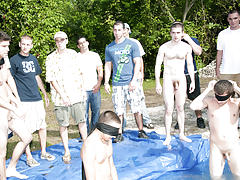 There is nothing like a nice summer time splash, especially when the pool is man made and ghetto rigged as fuck free male masturbation group