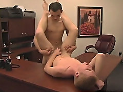 Nevin drops down to his knees and starts to suck on Jason's massive cock before bending over and taking it learned up his high barely ass free ga