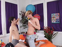 They fuck in a few positions and Lucas definitely loves all of them his first gay bj