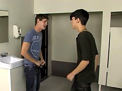 In this sizzling scene Jae Landen accuses Jayden Ellis of looking at his dick while they're in the school bathroom www his first gay sex  com at