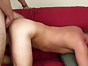 Twink shemale and two straight guys wanking their...