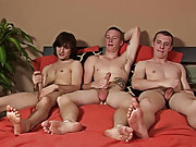 With Brett laying on his back, legs spread wide, Cj...