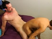 After his mama caught him fucking his tutor, Kyler Moss was banned from seeing Mike Manchester... but Mike sneaks in just to watch him male masterbati