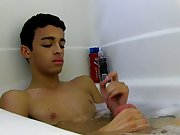 He soaps up amongst the bubbles, rubbing his smooth body and pink, hard cock gay socks twink at Boy Crush!