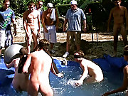 The winners certainly were excempt from hell week but the losers had to pay the ultimate price gay group sex in public