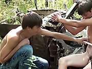 Bound and Waxed Friend russian teen male outdoo