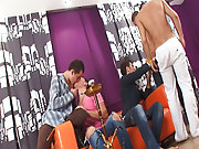 Free movies of hot gay groups having sex and man...