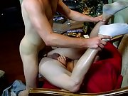 Gay boy masturbate for money and hairy built male...