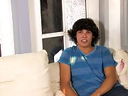 This versatile, eighteen year old with the cute shaggy hair talks about guys with Bryan this is your first gay sex at Boy Crush!