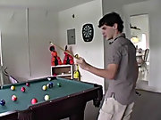 Horny Buds play a game of 'Strip Pool'...