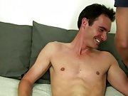 Once he has that vibrating dildo deep inside Cameron's tight ass he begins to jerk on his cock again making him moan and groan gay socks fetish