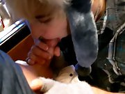 Gay twink cum outdoor free and leather pants twinks - at Boy Feast!