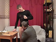The tutor made the boy strip and touched his cock...