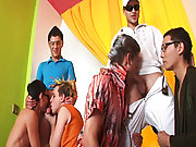 Group sex andnot gay teen and gay porn group ass...