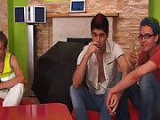 Gay group sex partys and male group nudity at Crazy Party Boys