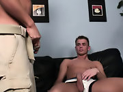 Twink tied on bed and gagging on cock sucking on...