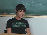 Lovely young twink pornstar Trey Korbin is sitting...