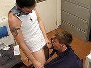 Harrison Ellis gets the business end of Joey's thick cut cock gay twinks chool at My Gay Boss