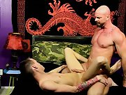 Handsome nude filipino men and young boy fist his...