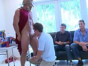 Free movies of hot gay groups having sex and male...