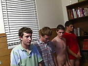 We had these pledges suck cock, fuck cock, spanked for breaking the rules today free gay group sex