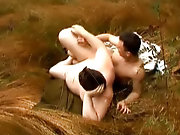 I delight in to fuck my young compeer at green forest hot gay outdoor sex orgy