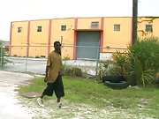 We found a thug wandering the rough streets of Miami gay interracial blowjob