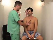 As the doctor jerked me off he played with my nipples and used his tongue to turn them on gay twinks movie club
