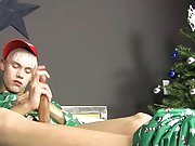 Ashton Cody works his sexy magic in this holiday solo masturbation pics free male at Boy Crush!