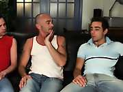 His first huge cock gay group handjobs
