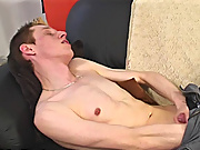 Jake strokes his cock college men masturbatio
