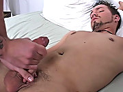 Anthony keeps working on Mike's cock, while Mike lays there and enjoys it gay blowjobs pictures