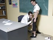 Once they're sure everyone is gone they proceed to get it on teen boy first masturbatio at Teach Twinks