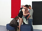 He wants to taste them all and leave to the most adroitly one into his ass first, then switch positions to take it in his mouth while another cock tak