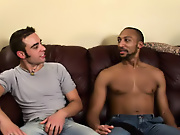His first huge cock free gay interracial video