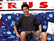 He jerks himself off and shoots a huge load on his tan stomach first time gay sex bus at Boy Crush!