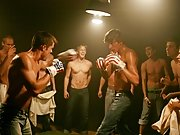 In two shakes of a lamb's tail, all guys there get naked and hard, given to bareback male male tickling groups